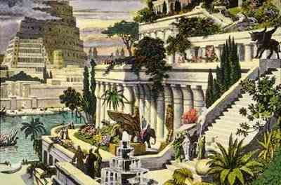 Seven-Wonders-of-the-Ancient-World-Hanging-Gardens-of-Babylon-عجائب-الدنيا-السبع-حدائق-بابل-المعلقة