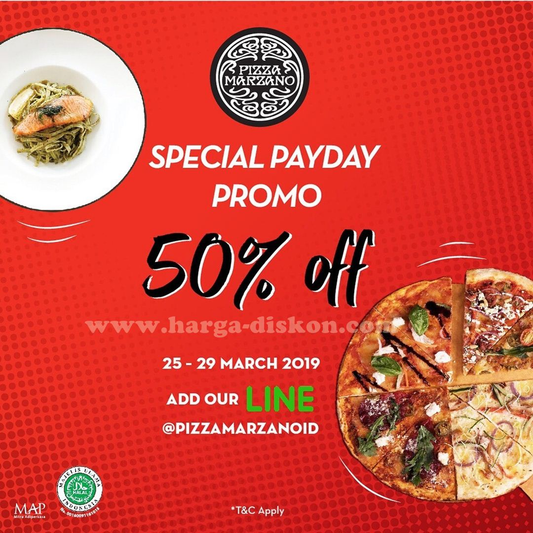 Promo Pizza Marzano Payday Promo Diskon 50 Periode 25 29 Maret 2019 Harga Diskon