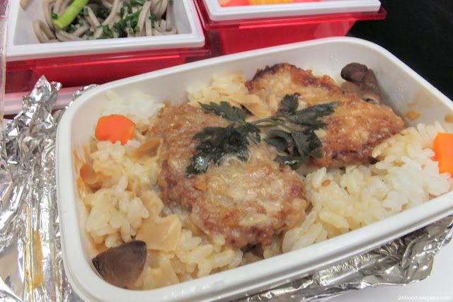 """jal-787-jl414 エコノミークラス機内食""""カツ丼""""2"""