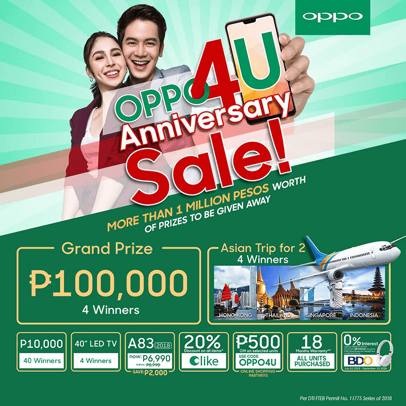 Sale Alert: Buy at OPPO's 4th anniversary sale and get a chance to Win PHP 100K!