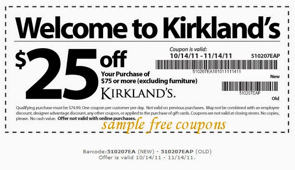 $10 Kirklands Coupon this is New Expired on May 26, 2014