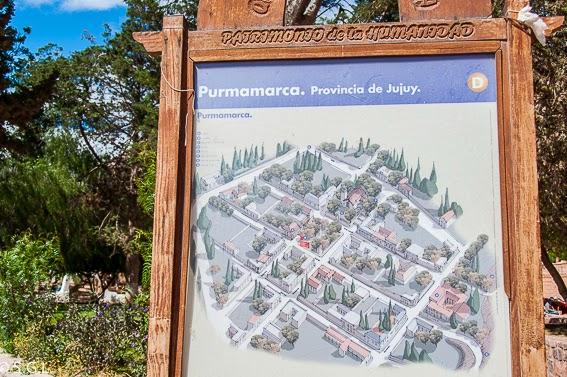 Purmamarca en la provincia de Jujuy. Viajando por Argentina. La quebrada de Humahuaca