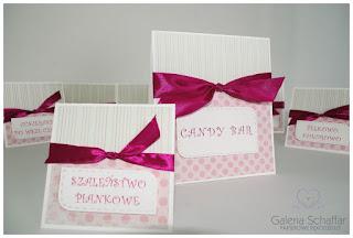 etykietki różówe w kropki i paski wrocław na zamówienie galeria schaffar