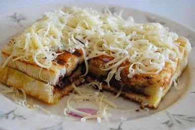 roti bakar pisang coklat - resep roti bakar sederhana