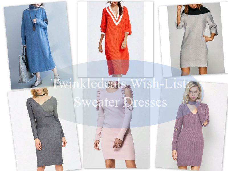 My TWINKLEDEALS Wish-List: Sweater Dresses. Платье-свитер / обзор