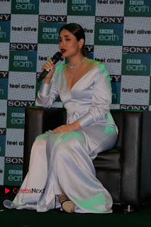 Bollywood Actress Kareena Kapoor Stills in Beautiful Silk Long Dress at Sony BBC Earth New Channel Launch  0015.jpg