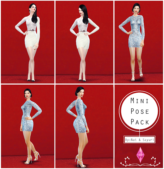 Mini Pose Pack (byNat&Say) - The Sims 4