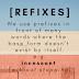Prefixes: Words without the Base form