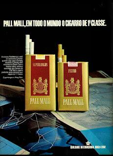 reclame cigarros Pall Mall - 1974; propaganda anos 70; história decada de 70; reclame anos 70; propaganda cigarros anos 70; Brazil in the 70s; Oswaldo Hernandez;