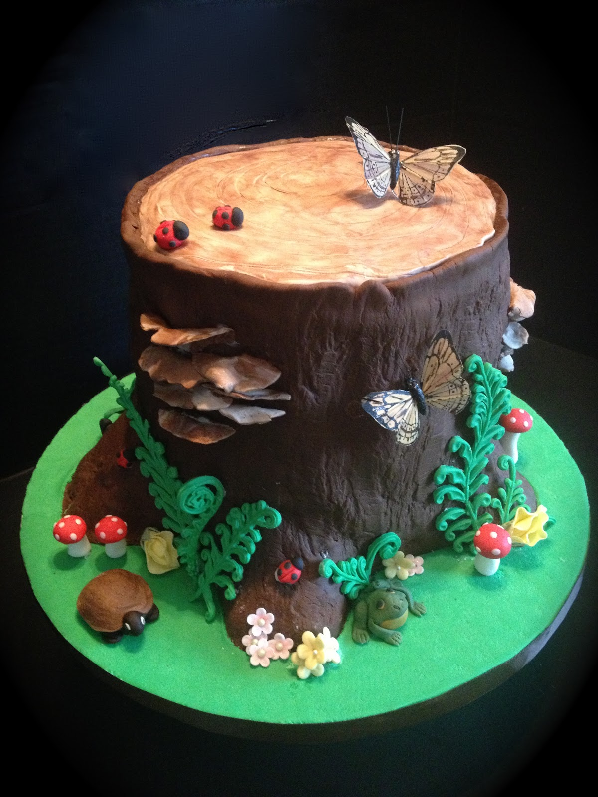 Peace Love Amp Cake Woodland Tree Stump Cake
