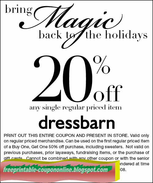 Save $22 on average with dressbarn promo codes and coupons for December Today's top dressbarn offer: $10 off. Find 9 dressbarn coupons and discounts at mobzik.tk Tested and verified on December 06, %().