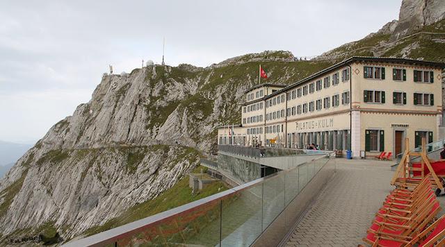 Hotel Pilatus-Kulm, no alto do Monte Pilatus, Suíça