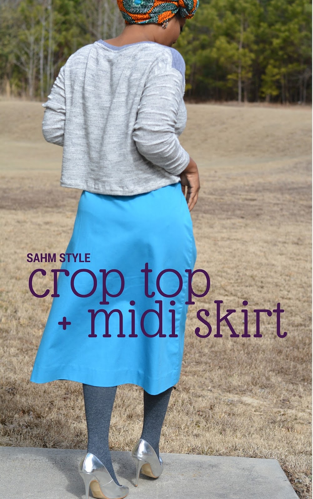 crop top midi skirt