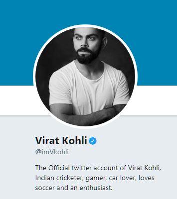 Virat Kohli Twitter