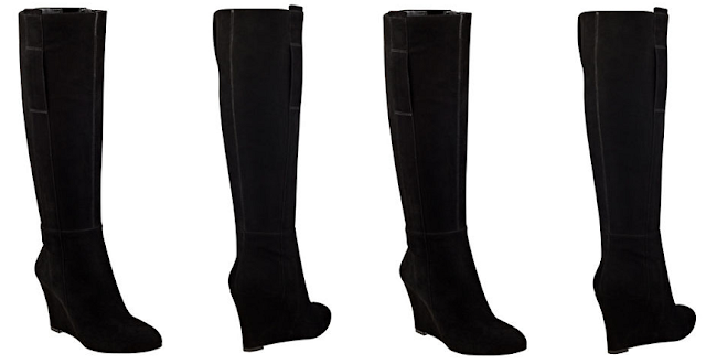 Nine West Orsella Suede Tall Wedge Boots $45 (reg $149)