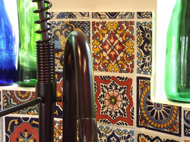 Dusty Coyote Turning A Kitchen Cart Into A Table Kitchen: Dusty Coyote: Mexican Tile Kitchen Backsplash DIY