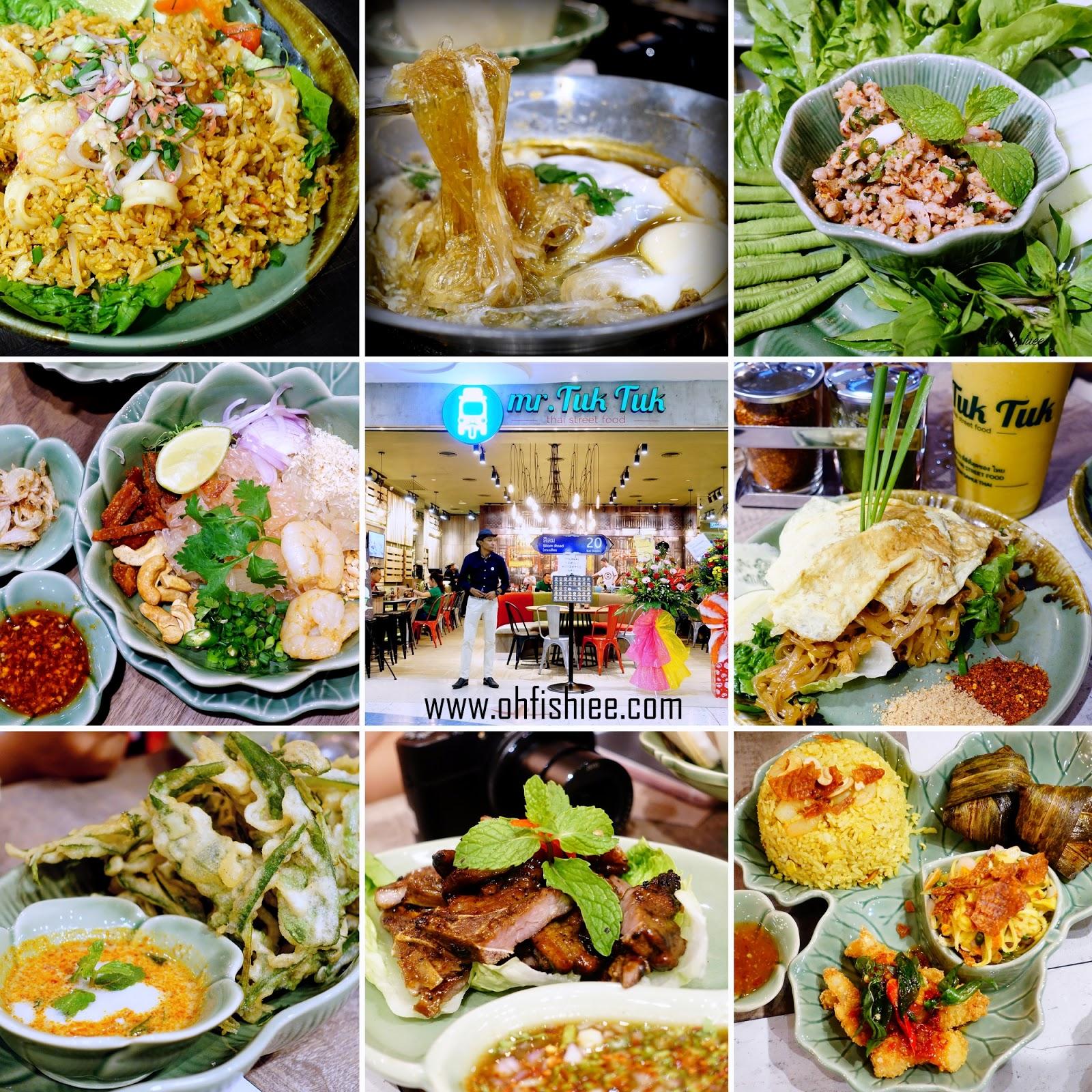 Oh fish iee mr tuk tuk thai street food sunway pyramid for Mr fish menu