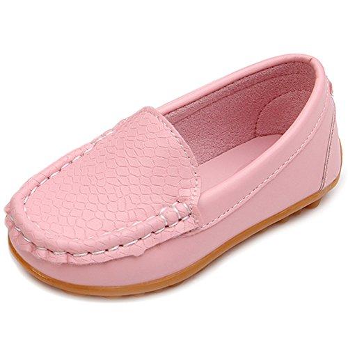 e84674a07907f LONSOEN Toddler/Little Kid Boys Girls Soft Synthetic Leather Loafer Slip-On  Boat-Dress ...