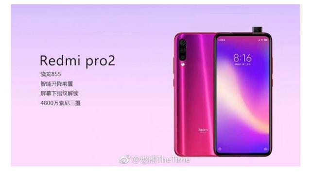 Redmi Pro 2 Dikabarkan Akan Hadir dengan Snapdragon 855 dan Kamera Pop-up