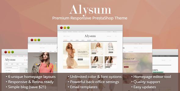Alysum v3.2 – Premium Responsive PrestaShop 1.6 Theme