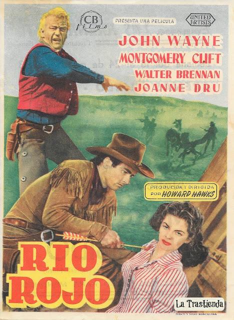 Programa de Cine - Río Rojo - John Wayne - Montgomery Clift - Joanne Dru - Walter Brennan