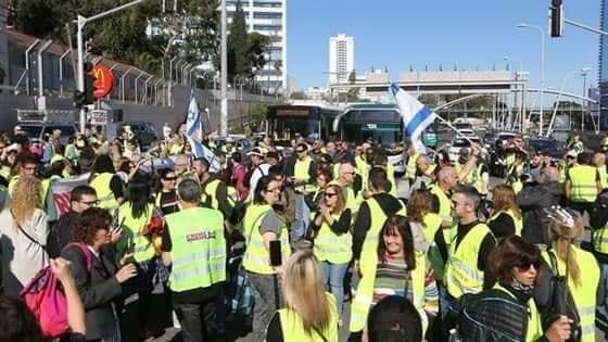 يحدث الآن : احتجاجات السترات الصفراء تصل إلى تل أبيب