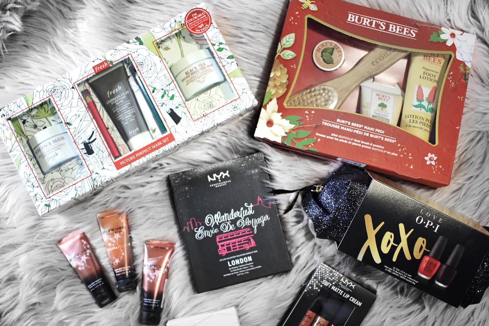 Christmas Gift Ideas: Gift Sets ft. Fresh, Burt's Bees, NYX, OPI, Melanie Mills Hollywood    The Glam Surge
