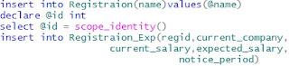 insert data into multiple tables in sql server
