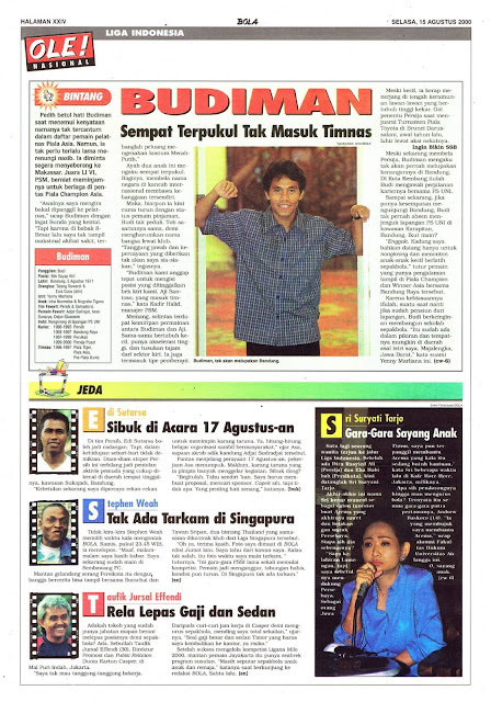 LIGA INDONESIA PROFIL BINTANG BUDIMAN