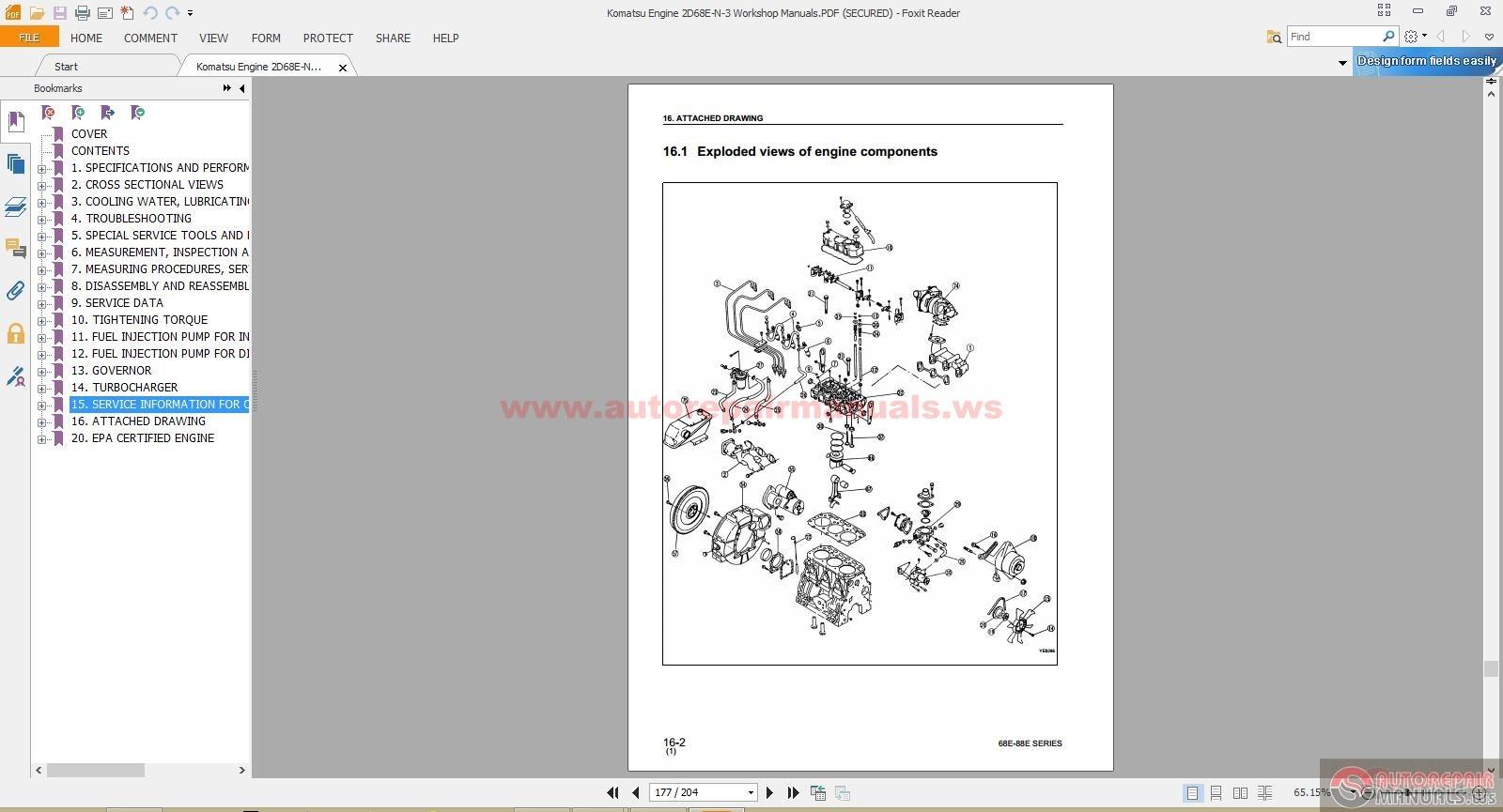 Komatsu Engine Workshop Manuals Full Download