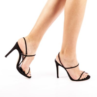 Sandale dama Stella negre cu toc elegante de ocazii