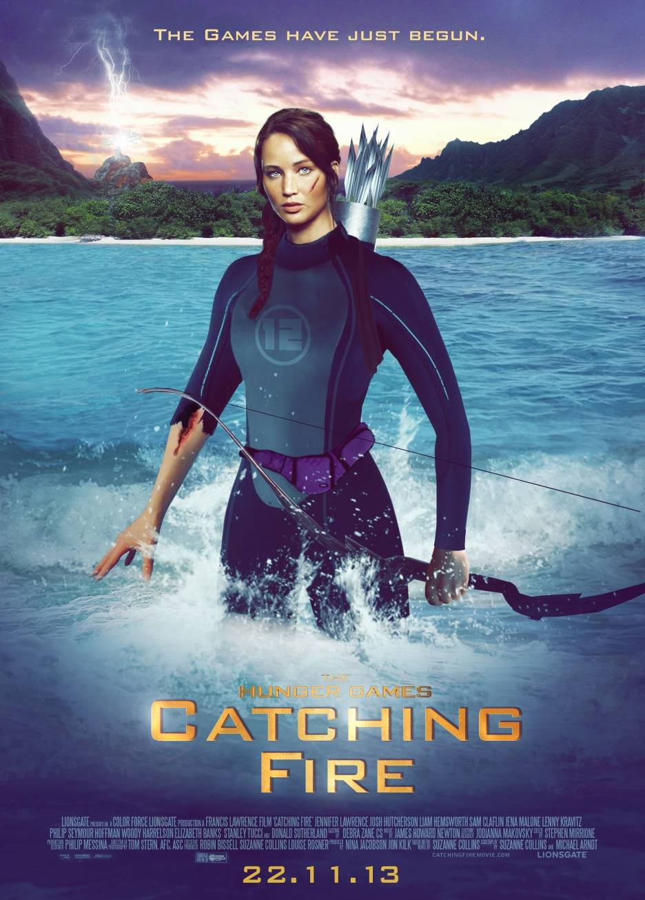 Hunger Games Catching Fire poster movieloversreviews.filminspector.com