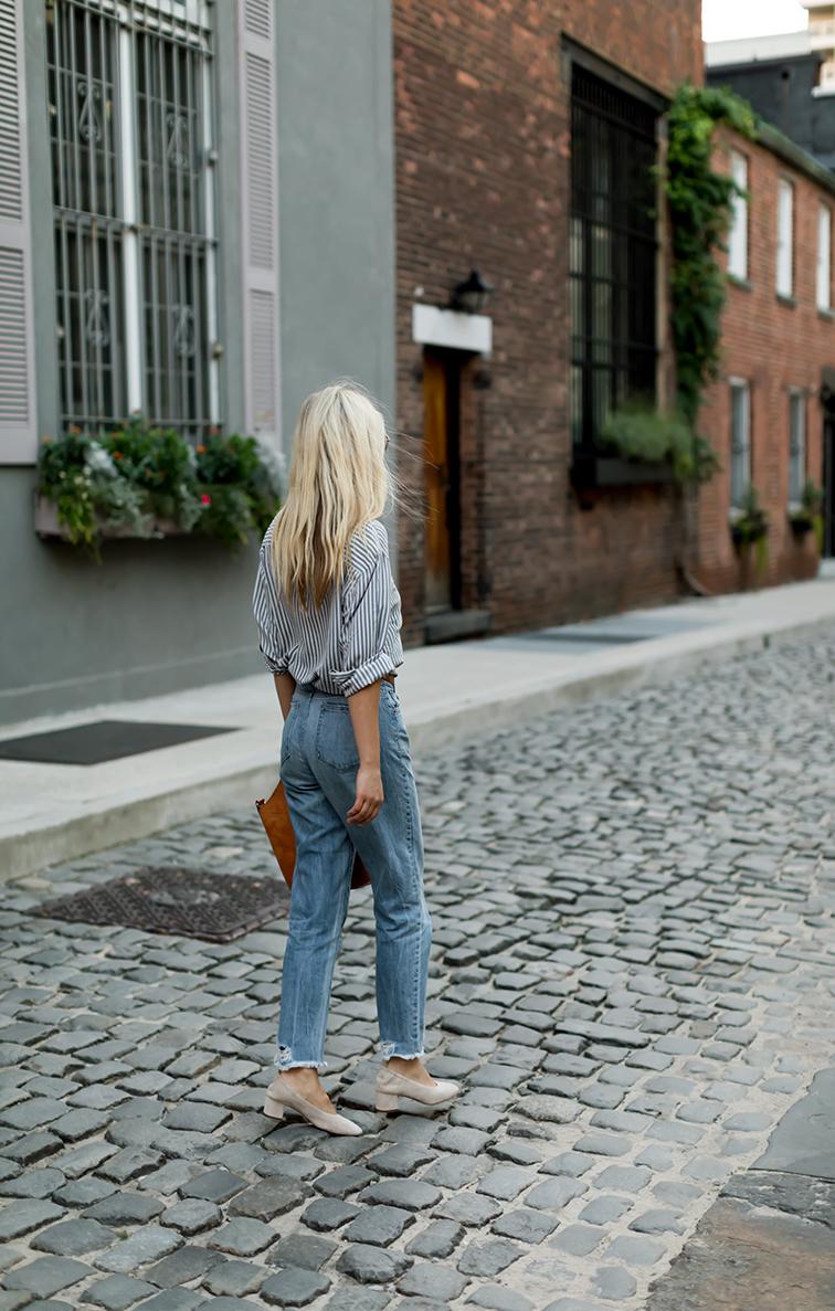 heleneisfor, Davis Tisdale vintage, Everlane Day heel, DL1961 boyfriend jeans