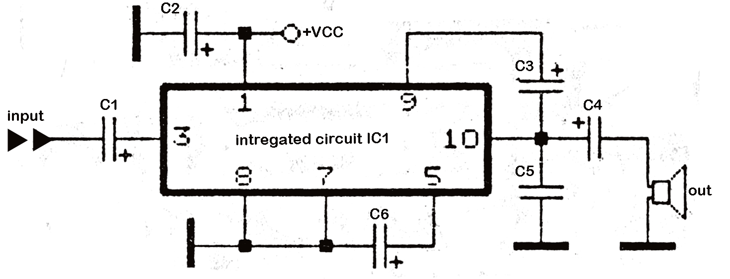 7 watt audio power amplifier circuit schematic auto electrical