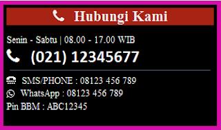 widget hubungi Kami