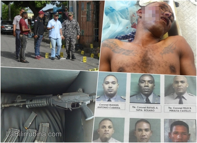 Más del enfrentamiento entre policías y asaltantes del banco Popular