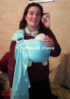 mysling néobulle sling bébé jersey portage maman naissance grossesse extensible