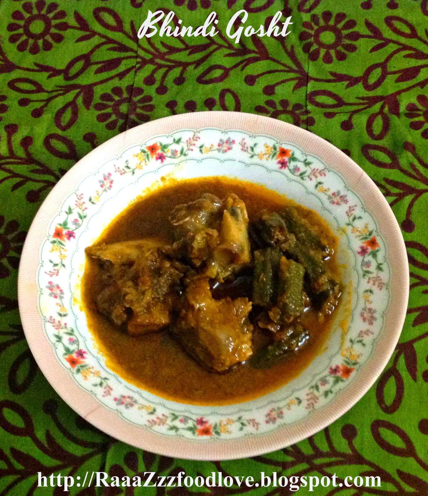 Okra and mutton curry