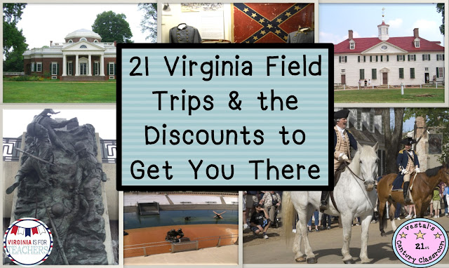 This post provides a list of the best Virginia field trips for students. A description and discounts available for each field trip are provided.