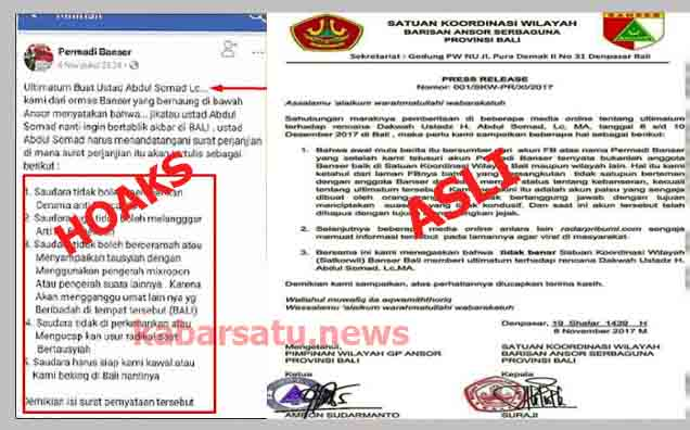 Waspada Provokator, Banser Bali Bantah Fitnah Permadi Banser Soal Ultimatun Ustad Somad di Bali