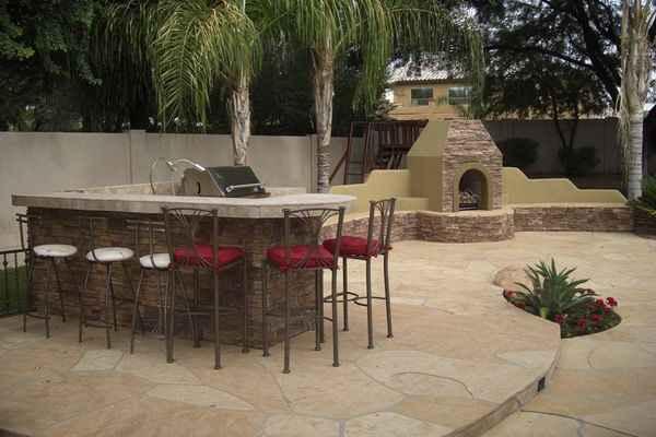 Arizona backyard landscaping ideas on a budget modern for Garden design ideas bbq