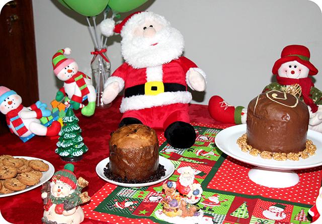 Decoração da Mesa : Festa de Natal
