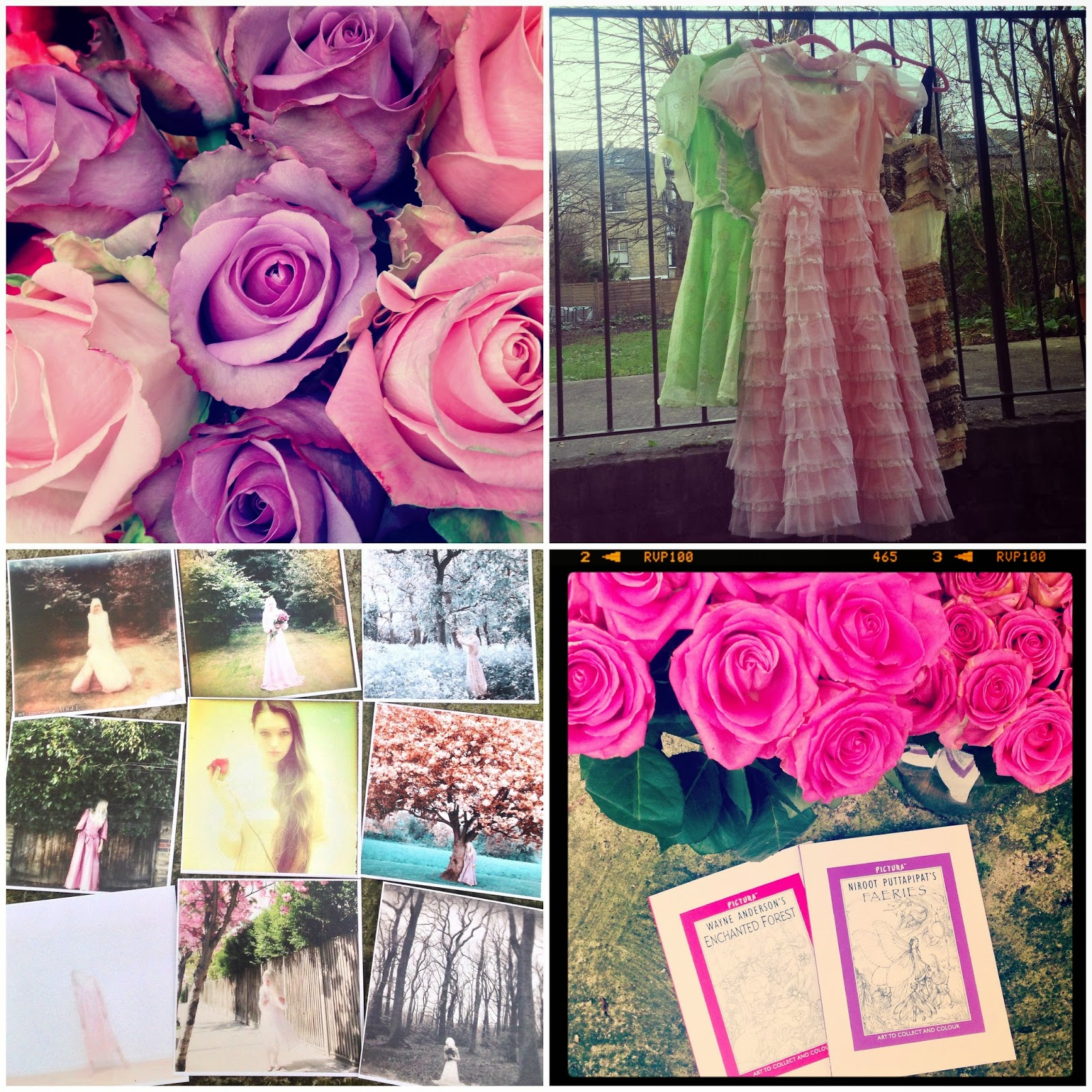 Roses from Liberty London, Beyond Retro dresses & Alice Solantania Saga's fine art photography