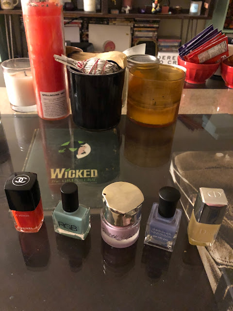 multicolored manicure, nails, nail polish, nail lacquer, nail varnish, manicure, Skittles manicure, Skittles nails, Dior Sunwashed, Smith & Cult Fauntleroy, RGB Minty, Chanel Espadrilles, Deborah Lippmann A Wink And A Smile