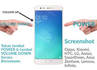 Cara mudah melakukan screenshot layar utama hp oppo dan hp tipe lainnya