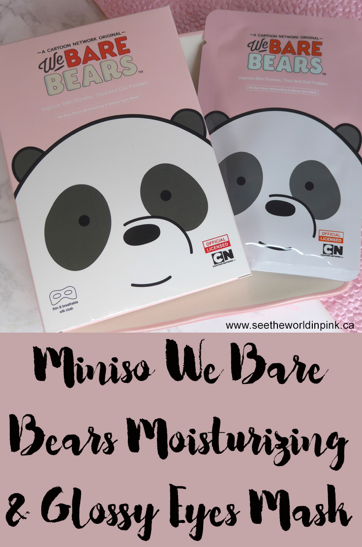 Miniso We Bare Bears Moisturizing & Glossy Eyes Masks