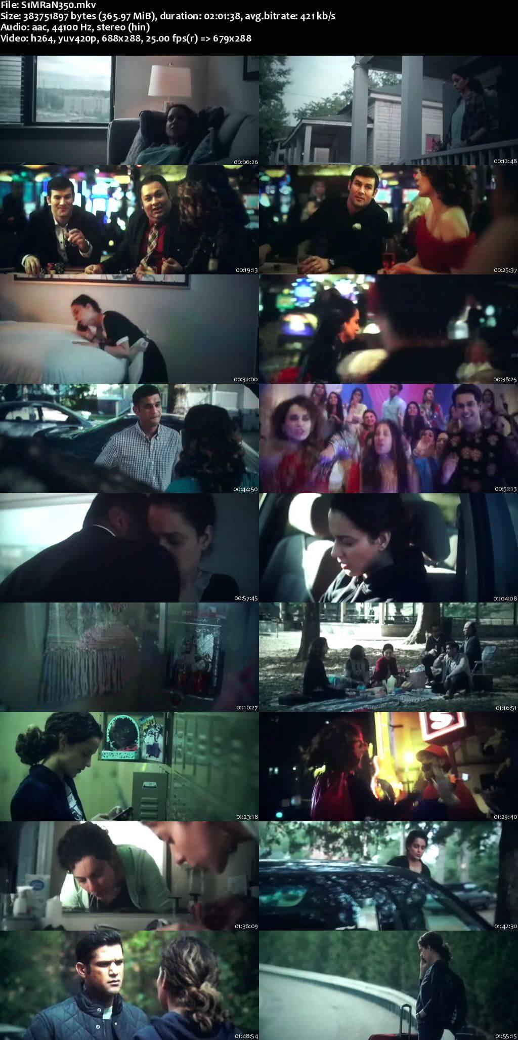 Screen Shot Of Simran 2017 300MB Pdvd Full Hindi Movie Watch Online Free Download