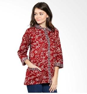 Foto Model Baju Batik Kantor Lengan Panjang
