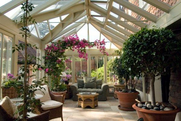Rahat ve şık kış bahçeleri