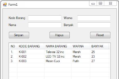Menampilkan Data ke Listview Dan Hapus Data Menggunakan Class Database pada VB.Net